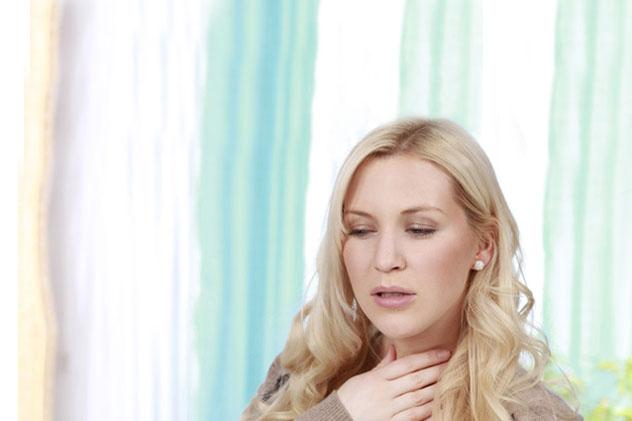 Симптомы болит горло сухой кашель болит грудная клетка