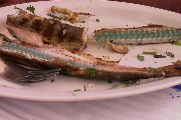 Рыба с костями