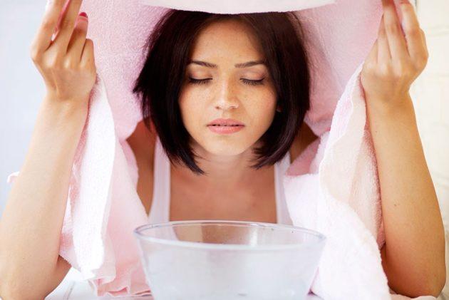 Паровые ингаляции с содой эффективны при кашле и насморке