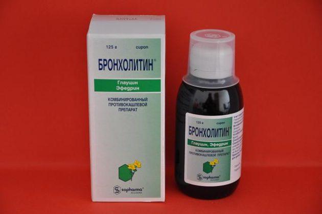 В состав Бронхолитина входит эфедрин