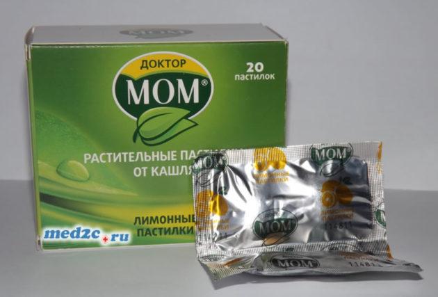 Таблетки от горла Доктор Мом