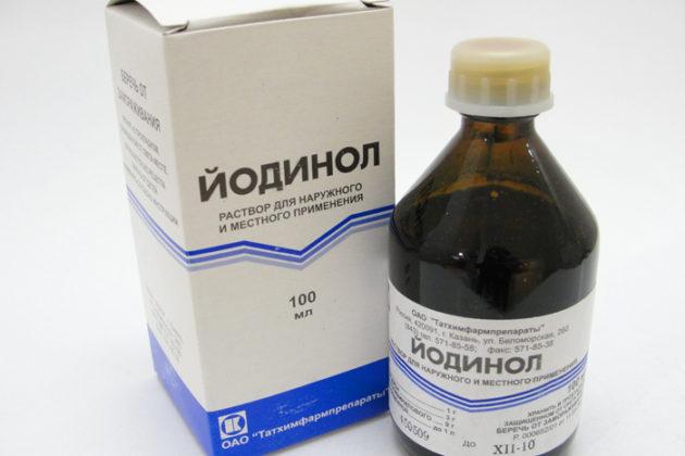 Йодинол - аналог Люголя для горла