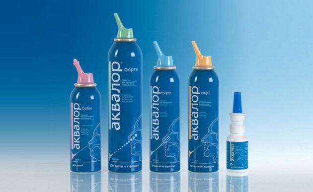 Растворы для промывания Аквалор помогут при заложенности носа
