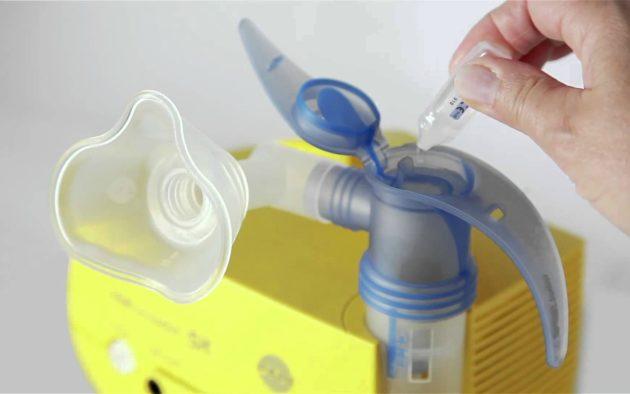 Неублайзер для проведения ингаляции при ларингите