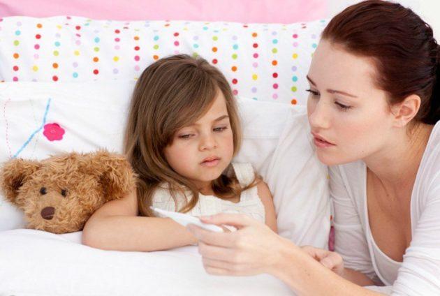 Температура у ребенка при отите