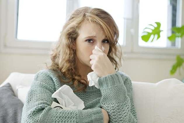заложен нос и болит горло
