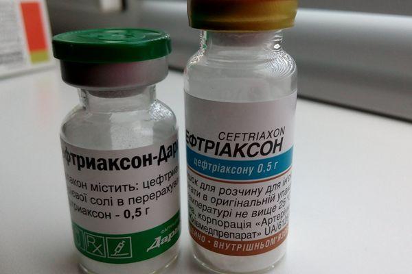 уколы цефтриаксона при ангине