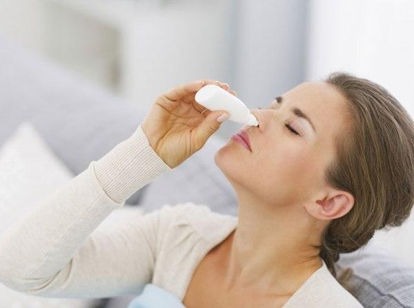 закапывание капель в нос ноздрин
