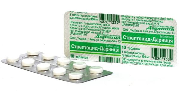 стрептоцид от горла